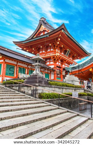 Fushimi Inari Shrine kyoto osaka japan - stock photo