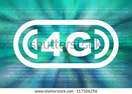 4g communication background - stock photo