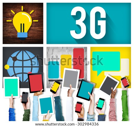 3G Connection Technology Internet Network Concept - stock photo