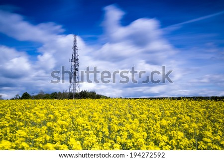 3G 4G LTE Radio Mast in a Rural Location - stock photo