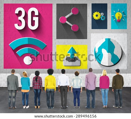 3G Networking Global Communications Connection Concept