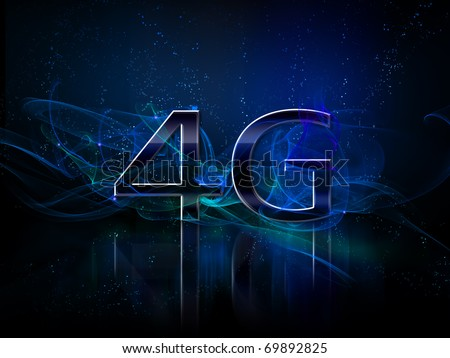 4g smart phone or comunicator display - stock photo