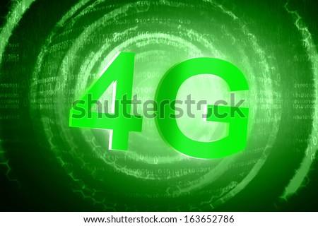 4G technology - stock photo