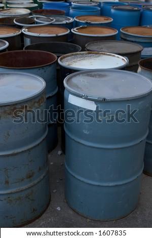 55 gallon drums - stock photo