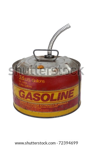 2.5 gallon gas can with pour spout - stock photo