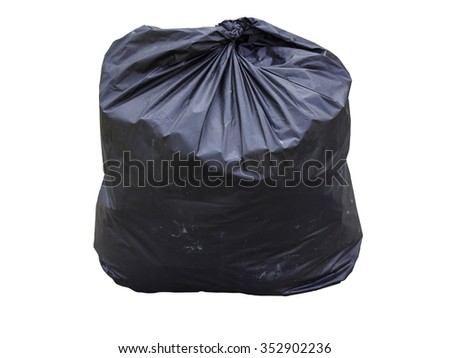 garbage bag isolated on white background. Clipping path.