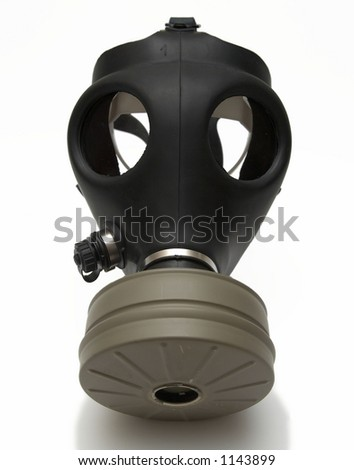 Gas mask - isolated on white - shadow - stock photo