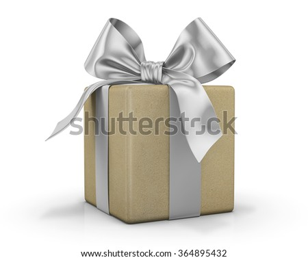 gift box and bow 3d  render