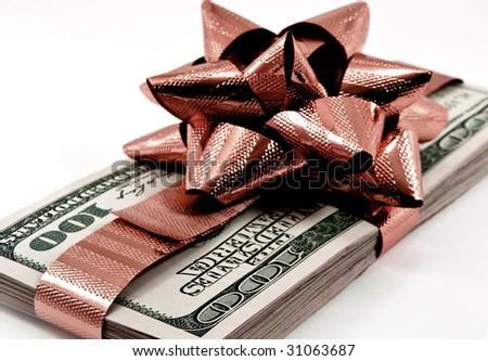 gift money - stock photo