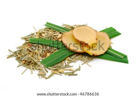ginger and lemongrass tea - stock photo