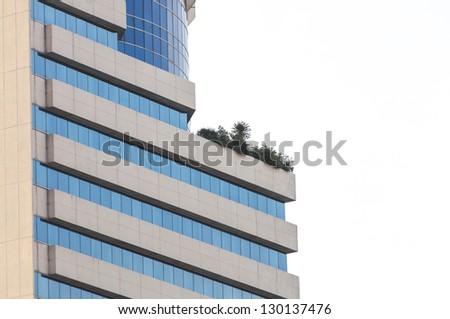 glass modern building - stock photo