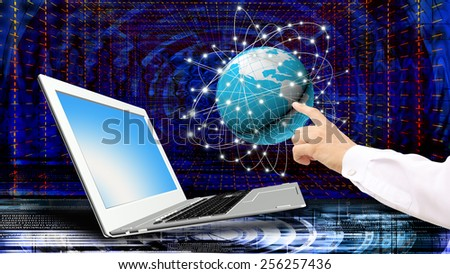 Global  innovative computer Internet technologies for business - stock photo