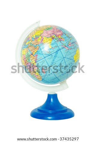 globe isolated on the white background