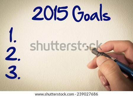 2015 goals text write on wall  - stock photo