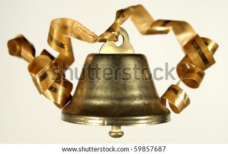 Gold Handbell - stock photo