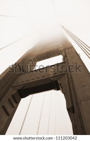 Golden Gate Bridge - San Francisco (USA) - Sepia - stock photo