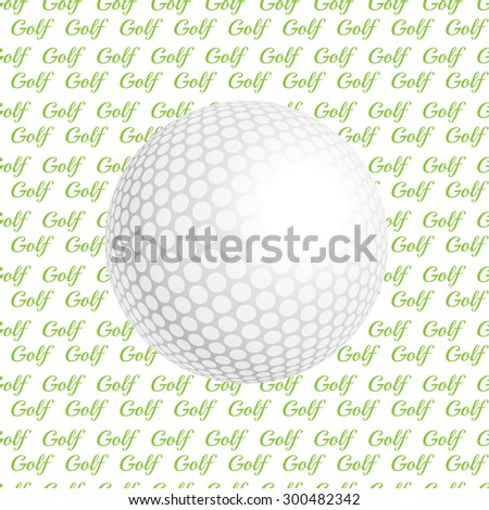 golf ball. Golf ball.  illustration a traditional white golf ball. Golf logo. Golf background. Realistic rendition of golf ball texture. Golf texture background - stock photo