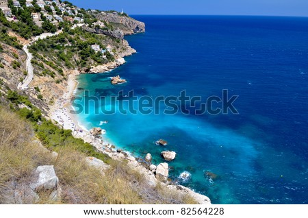 gorgeous view of mediterranean beach