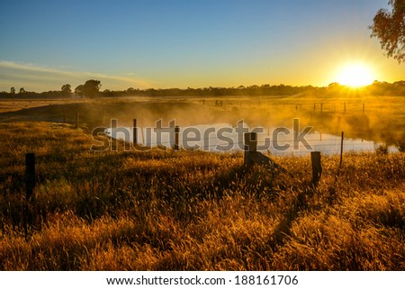 Grampians National Park, morning sunrise - stock photo