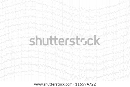 graph brain wave light texture isolated on white - stock photo