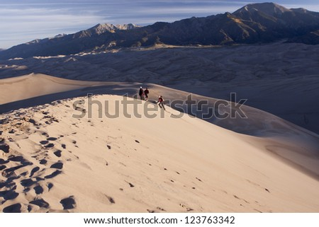 Great Sand Dunes National Park - stock photo