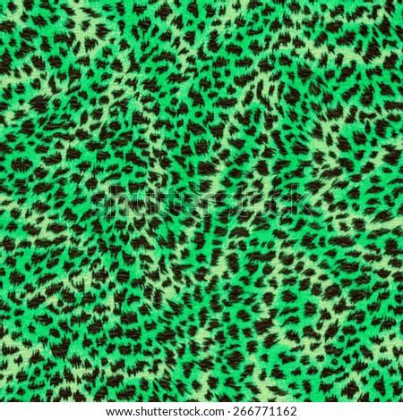 green fur texture - stock photo