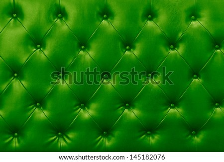 green sofa leather background ,Red diamond pattern upholstery background