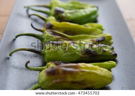 grilled shishito pepper