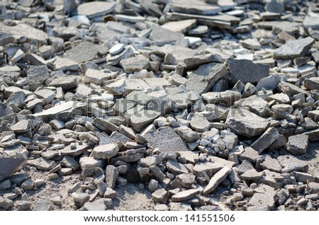 ground broken - stock photo