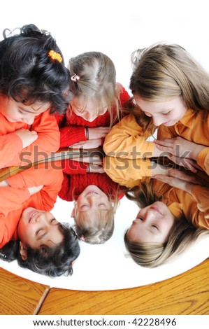 Group of happy friends - stock photo