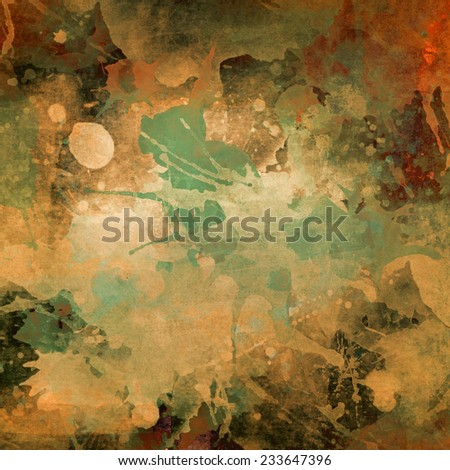 grunge background with paint spatters  - stock photo