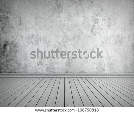 Grunge interior background for your concept or project - rendering