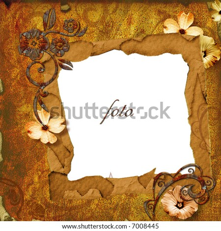 grungy  frame - stock photo