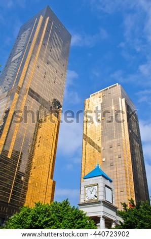 Guangzhou,January, 2016--Modern Building in Guangzhou,China. - stock photo