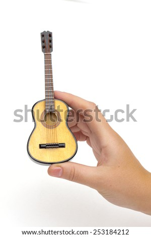 guitar on the white background - stock photo