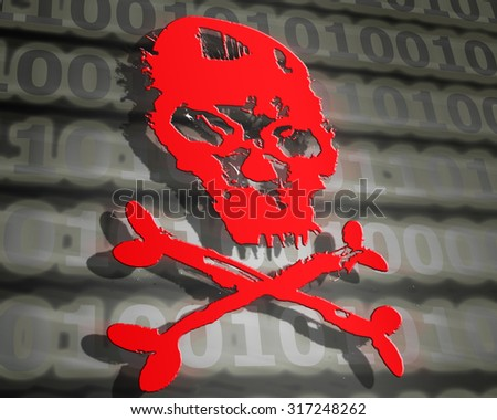 hacker attack concept  - stock photo