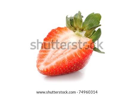 Half of strawberry. - stock photo