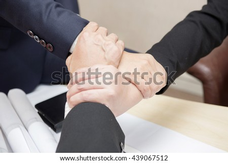 3 Hand Assemble Teamwork for success of the business in the future.