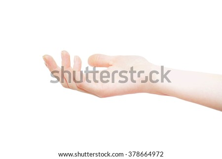 hand on Ã?? white background