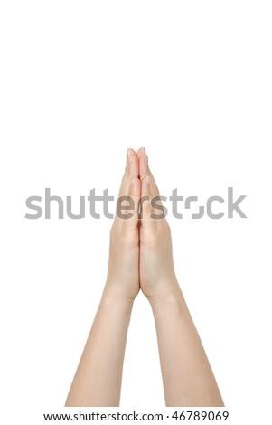 hand praying - stock photo