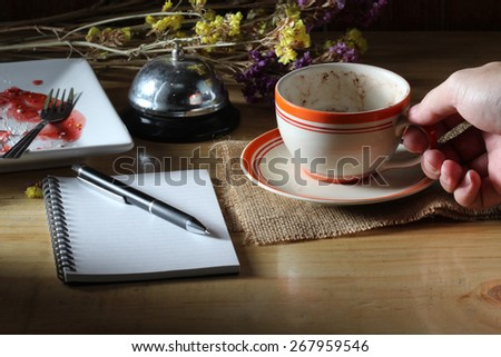 hand write on paper - stock photo