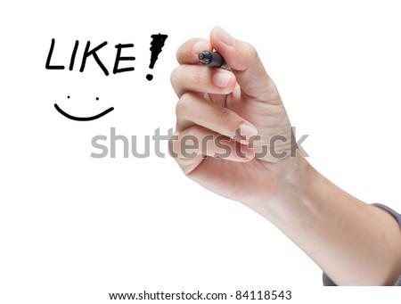 hand writing like message - stock photo