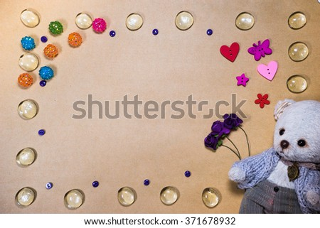 handmade background for Valentines day - stock photo