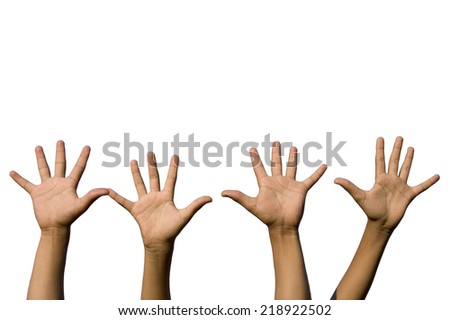 hands isolated