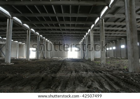hangar - stock photo