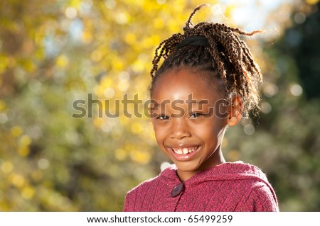 Happy African American Child - stock photo
