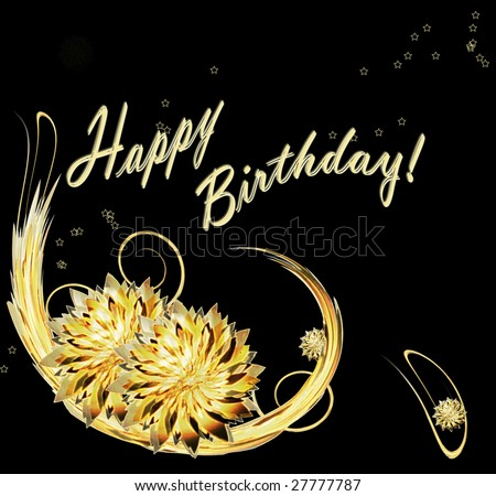 """happy birthday"" card - stock photo"