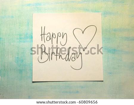 happy birthday message - stock photo