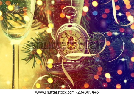 Happy New Year greeting card. - stock photo