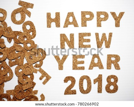 2018 Happy New Year Wording Concept Stock Photo (Royalty Free ...